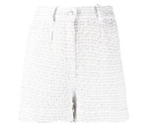 Zelysa Strick-Shorts mit Metallic-Fäden