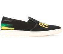 Slip-On-Sneakers mit Logo-Print