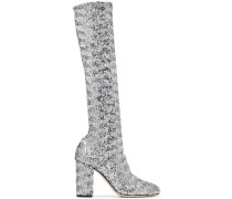 Silver stretch sequins 90 boots