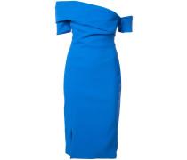 off-the-shoulder side slit dress