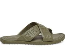Sandalen mit FF-Prägung