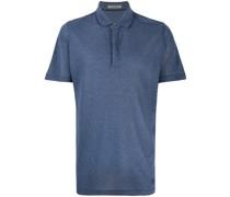 Meliertes Jersey-Poloshirt