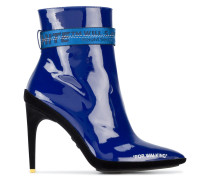 Blue patent For Walking 105 ankle boots