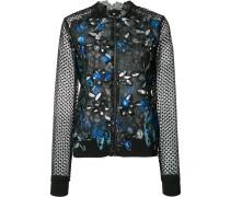 Taillierte Jacke mit semi-transparenten Ärmeln