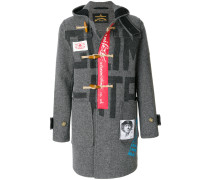 patched duffle coat