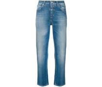 Cropped-Jeans mit Stone-Wash-Effekt