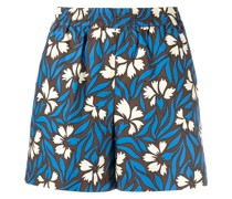 P.A.R.O.S.H. Geblümte High-Waist-Shorts