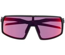 tinted large-framed sunglasses