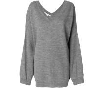 Oversized-Pullover mit V-Ausschnitt