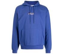 logo-embroidered drawstring hoodie