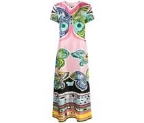 Kleid mit Schmetterlings-Print