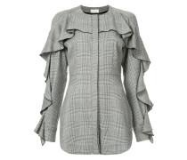 Tweed-Hemd mit Rüschen