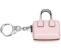 branded tote keyring - women - Kalbsleder/metal