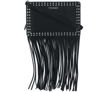 fringed studded shoulder bag