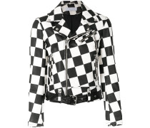 checkered biker jacket