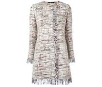 Tweed-Mantel mit Fransen - women