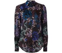 Seidenhemd mit floralem Print - women - Seide