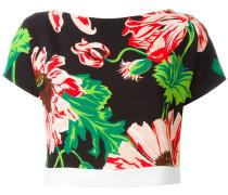 Cropped-Top mit Blumen-Print