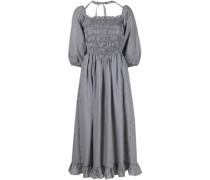 Beeper gingham check-print midi dress
