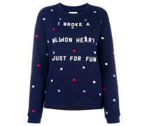 Sweatshirt mit aufgesticktem Herzen