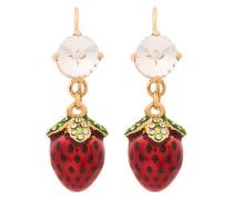 crystal strawberry earrings