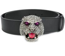 feline head buckle belt