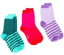 Set mit gestreiften Socken
