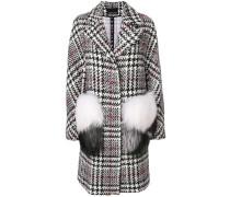 fur appliqué coat