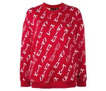 'Hu Race' Sweatshirt mit Prints