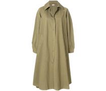 buttoned overcoat
