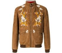 Jacke mit Drachenstickerei
