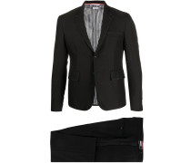 BLACK 3PLY WOOL MOHAIR HIGH ARMHOLE TUXEDO WITH BOW TIE AND LOW RISE TROUSER