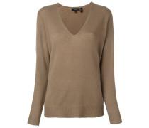 v neck fine knit jumper