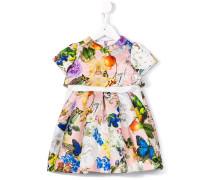 butterfly garden print dress