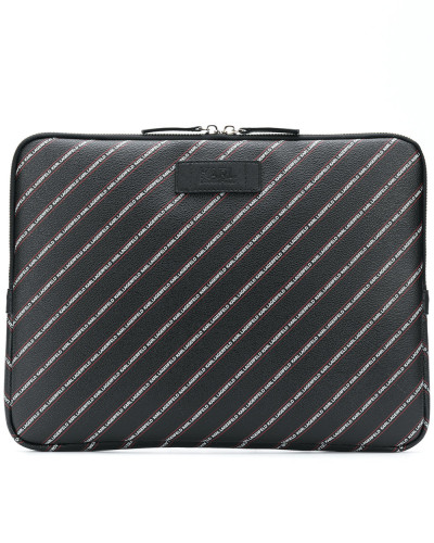 Karl Lagerfeld Damen striped logo laptop case