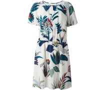 floral print short-sleeved dress