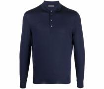 Langärmeliges Merino-Poloshirt