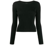 Gerippter Pullover mit schmalem Schnitt