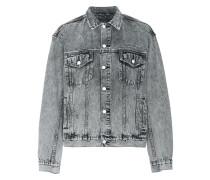 Oh G grey acid wash denim jacket