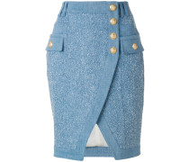 embossed-button skirt