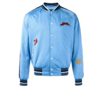 embroidered patch baseball bomber