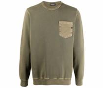 Sweatshirt mit aufgesetzter Brusttasche