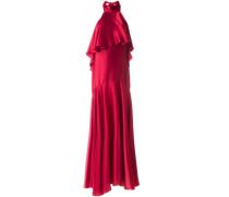 Ausgestelltes Abendkleid mit Neckholder-Kragen