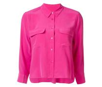 Cropped-Hemd mit Brusttaschen - women - Seide