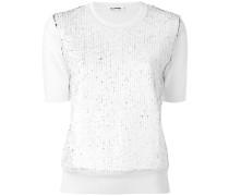 Langarmshirt mit texturiertem Einsatz