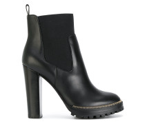 Chelsea-Boots mit Shearling-Futter