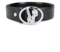 monogram buckle belt