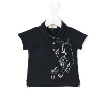 Poloshirt mit Panther-Print