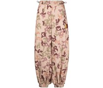 Tapered-Hose mit Camouflage-Print