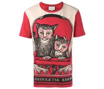 T-Shirt mit Katzen-Print